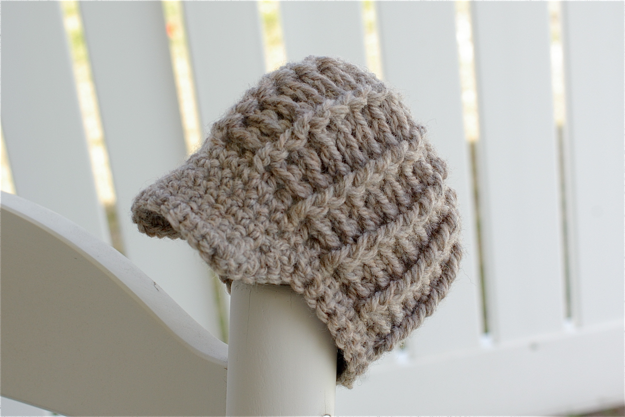 Free Crochet Pattern For Infant Newsboy Hat : Newsboy Hat by small means
