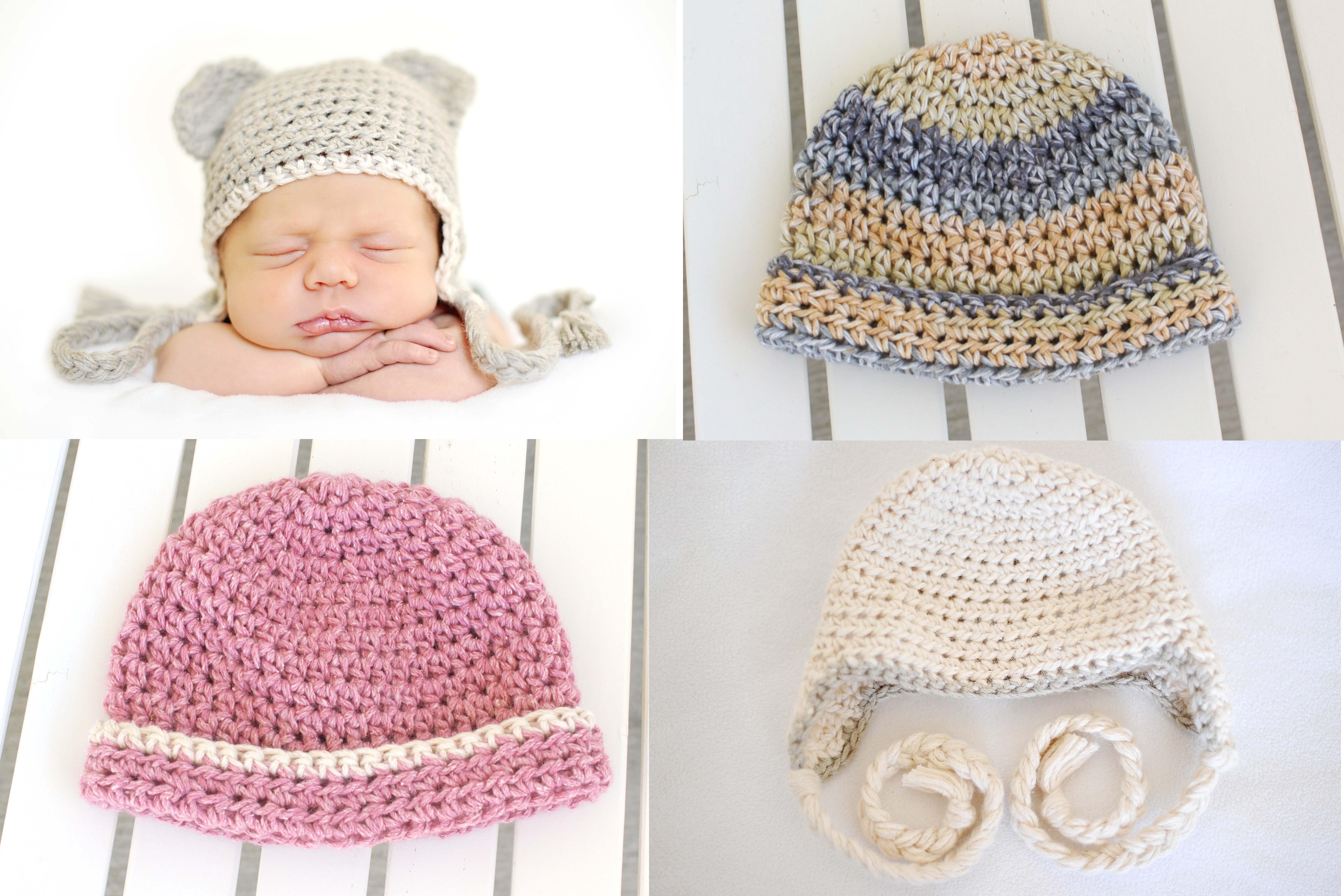 Crochet Newborn Hat Pattern   by small means